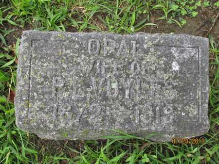 VOYLES, OPAL - Montgomery County, Kansas | OPAL VOYLES - Kansas Gravestone Photos