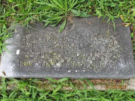 VOYLES, CLYDE B   (VETERAN WWI) - Montgomery County, Kansas | CLYDE B   (VETERAN WWI) VOYLES - Kansas Gravestone Photos
