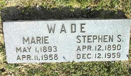 WADE, STEPHEN S - Montgomery County, Kansas | STEPHEN S WADE - Kansas Gravestone Photos