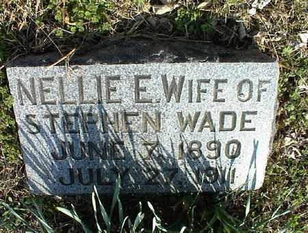 WADE, NELLIE E - Montgomery County, Kansas | NELLIE E WADE - Kansas Gravestone Photos