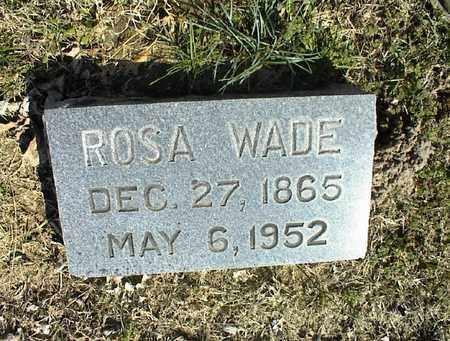 WADE, ROSA - Montgomery County, Kansas | ROSA WADE - Kansas Gravestone Photos