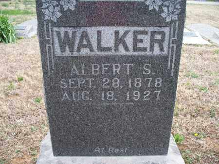 WALKER, ALBERT S - Montgomery County, Kansas | ALBERT S WALKER - Kansas Gravestone Photos