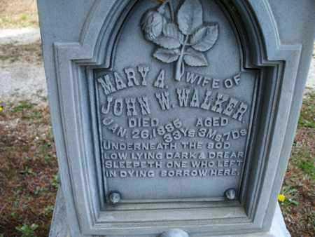 WALKER, MARY A - Montgomery County, Kansas | MARY A WALKER - Kansas Gravestone Photos