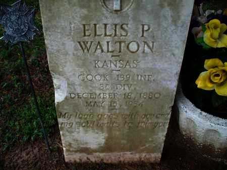 WALTON, ELLIS P   (VETERAN WWI) - Montgomery County, Kansas | ELLIS P   (VETERAN WWI) WALTON - Kansas Gravestone Photos