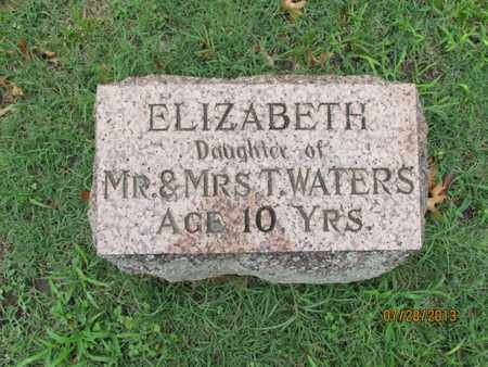 WATERS, ELIZABETH - Montgomery County, Kansas   ELIZABETH WATERS - Kansas Gravestone Photos
