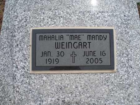 "WEINGART, MAHALIA ""MAE"" MANDY - Montgomery County, Kansas | MAHALIA ""MAE"" MANDY WEINGART - Kansas Gravestone Photos"