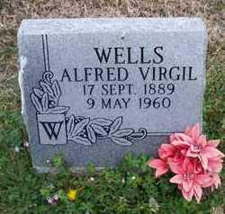 WELLS, ALFRED VIRGIL - Montgomery County, Kansas | ALFRED VIRGIL WELLS - Kansas Gravestone Photos