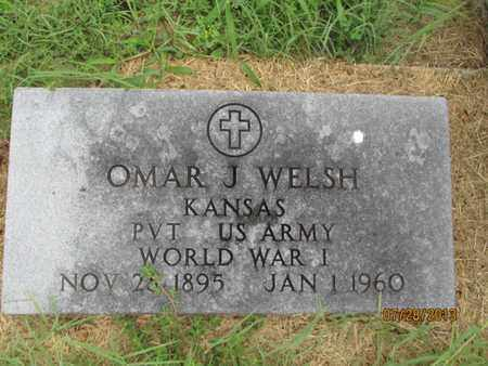 WELSH, OMAR J   (VETERAN WWI) - Montgomery County, Kansas   OMAR J   (VETERAN WWI) WELSH - Kansas Gravestone Photos