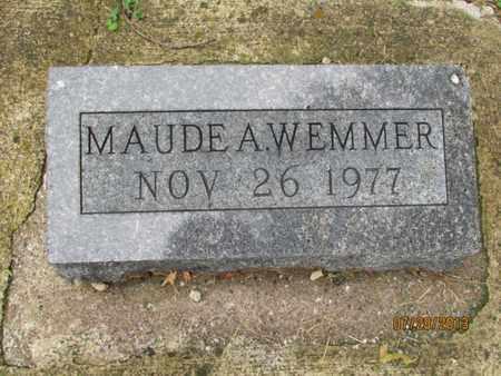 WEMMER, MAUDE A - Montgomery County, Kansas   MAUDE A WEMMER - Kansas Gravestone Photos