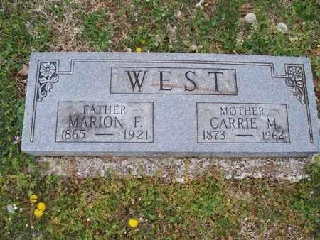 WEST, MARION F - Montgomery County, Kansas   MARION F WEST - Kansas Gravestone Photos