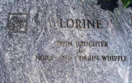 WHIPPLE, LORINE - Montgomery County, Kansas | LORINE WHIPPLE - Kansas Gravestone Photos
