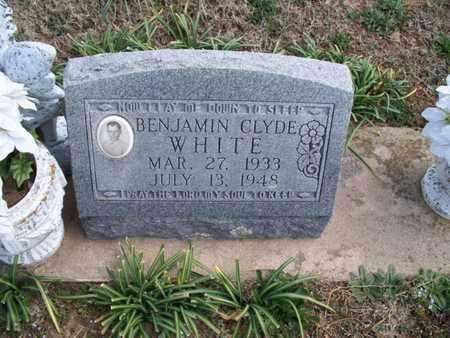 WHITE, BENJAMIN CLYDE - Montgomery County, Kansas | BENJAMIN CLYDE WHITE - Kansas Gravestone Photos