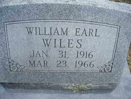 WILES, WILLIAM EARL - Montgomery County, Kansas   WILLIAM EARL WILES - Kansas Gravestone Photos