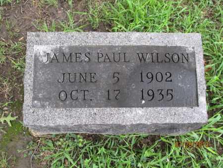 WILSON, JAMES PAUL - Montgomery County, Kansas   JAMES PAUL WILSON - Kansas Gravestone Photos