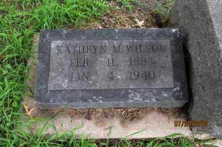 WILSON, KATHRYN M - Montgomery County, Kansas   KATHRYN M WILSON - Kansas Gravestone Photos