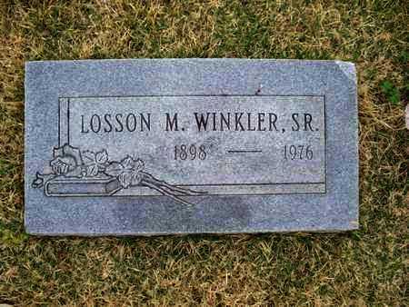 WINKLER, LOSSON M, SR - Montgomery County, Kansas   LOSSON M, SR WINKLER - Kansas Gravestone Photos