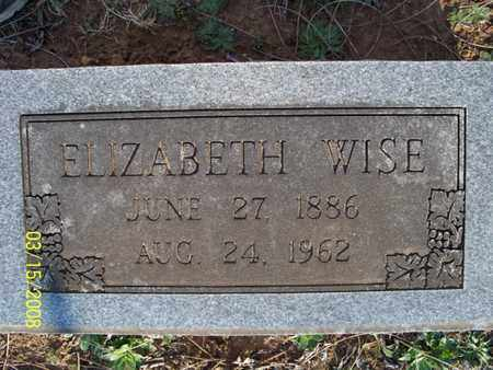 WISE, ELIZABETH - Montgomery County, Kansas | ELIZABETH WISE - Kansas Gravestone Photos