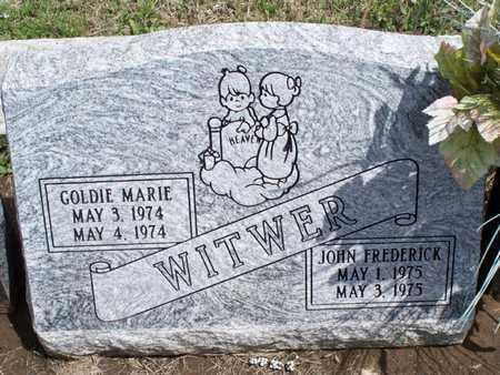 WITWER, GOLDIE MARIE - Montgomery County, Kansas | GOLDIE MARIE WITWER - Kansas Gravestone Photos