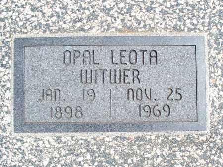 WITWER, OPAL LEOTA - Montgomery County, Kansas | OPAL LEOTA WITWER - Kansas Gravestone Photos