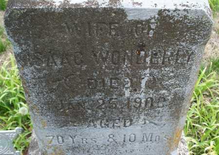 WONDERLY, WIFE - Montgomery County, Kansas | WIFE WONDERLY - Kansas Gravestone Photos