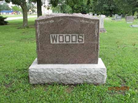 WOODS, FAMILY STONE - Montgomery County, Kansas   FAMILY STONE WOODS - Kansas Gravestone Photos