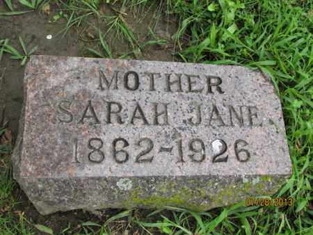 WOODS, SARAH JANE - Montgomery County, Kansas | SARAH JANE WOODS - Kansas Gravestone Photos