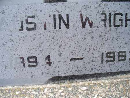 WRIGHT, AUSTIN - Montgomery County, Kansas | AUSTIN WRIGHT - Kansas Gravestone Photos