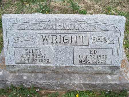 WRIGHT, ED - Montgomery County, Kansas | ED WRIGHT - Kansas Gravestone Photos