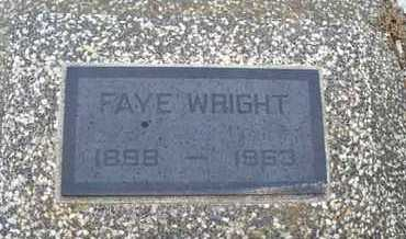 WRIGHT, FAYE - Montgomery County, Kansas | FAYE WRIGHT - Kansas Gravestone Photos