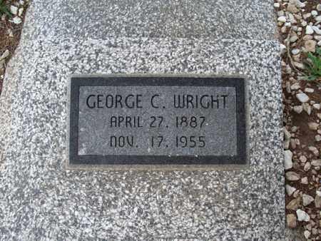 WRIGHT, GEORGE C - Montgomery County, Kansas | GEORGE C WRIGHT - Kansas Gravestone Photos