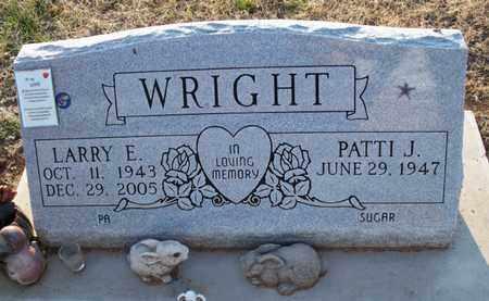 WRIGHT, LARRY E - Montgomery County, Kansas | LARRY E WRIGHT - Kansas Gravestone Photos