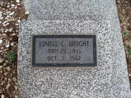 WRIGHT, LOVELL C - Montgomery County, Kansas | LOVELL C WRIGHT - Kansas Gravestone Photos