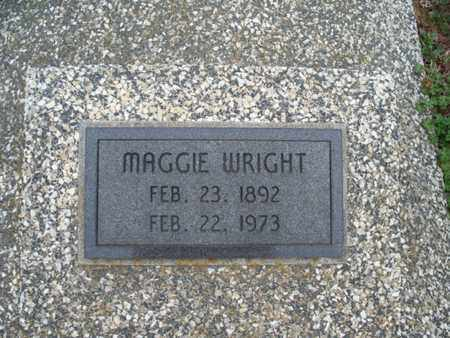 WRIGHT, MAGGIE - Montgomery County, Kansas   MAGGIE WRIGHT - Kansas Gravestone Photos