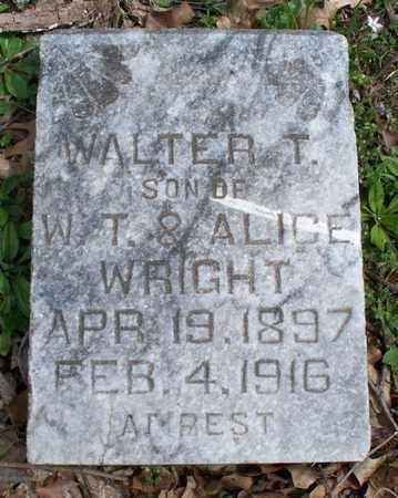 WRIGHT, WALTER T - Montgomery County, Kansas | WALTER T WRIGHT - Kansas Gravestone Photos