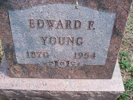 YOUNG, EDWARD F - Montgomery County, Kansas | EDWARD F YOUNG - Kansas Gravestone Photos