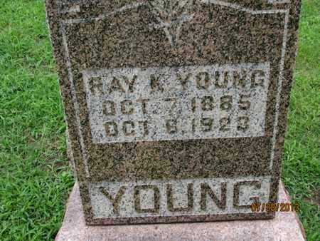 YOUNG, RAY M - Montgomery County, Kansas | RAY M YOUNG - Kansas Gravestone Photos