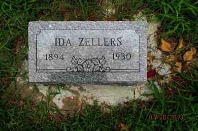 ZELLERS, IDA - Montgomery County, Kansas | IDA ZELLERS - Kansas Gravestone Photos