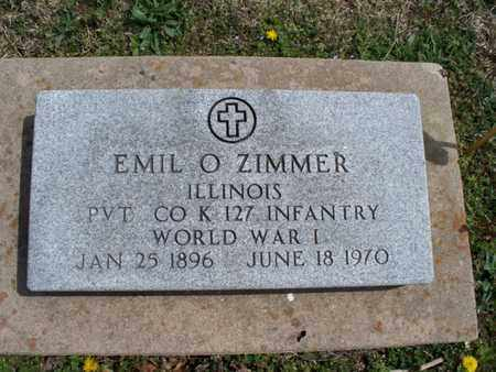 ZIMMER, EMIL O  (VETERAN WWI) - Montgomery County, Kansas | EMIL O  (VETERAN WWI) ZIMMER - Kansas Gravestone Photos