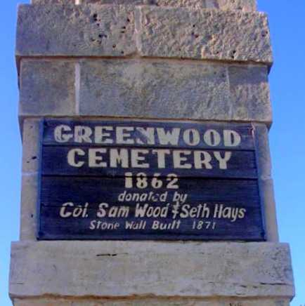 *SIGN, GREENWOOD CEMETERY - Morris County, Kansas   GREENWOOD CEMETERY *SIGN - Kansas Gravestone Photos