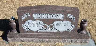 DENTON, RAMONA B - Morton County, Kansas   RAMONA B DENTON - Kansas Gravestone Photos