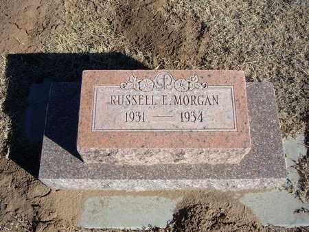 MORGAN, RUSSELL E - Morton County, Kansas | RUSSELL E MORGAN - Kansas Gravestone Photos