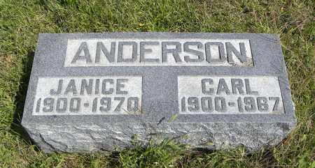 ANDERSON, CECILE JANICE - Nemaha County, Kansas | CECILE JANICE ANDERSON - Kansas Gravestone Photos