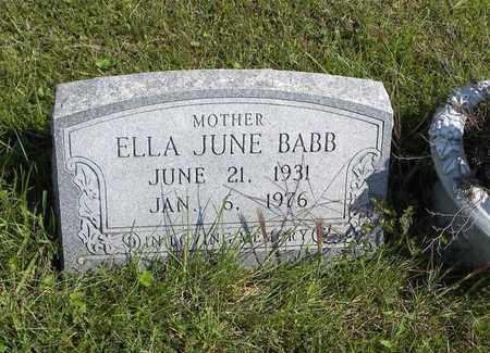 KIRK BABB, ELLA JUNE - Nemaha County, Kansas | ELLA JUNE KIRK BABB - Kansas Gravestone Photos