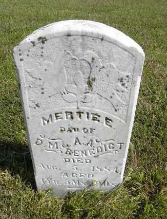 BENEDICT, MERTIE E - Nemaha County, Kansas   MERTIE E BENEDICT - Kansas Gravestone Photos