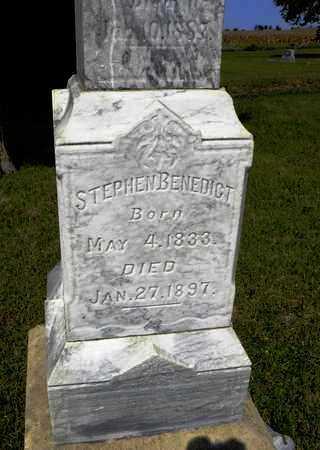 BENEDICT, STEPHEN - Nemaha County, Kansas   STEPHEN BENEDICT - Kansas Gravestone Photos