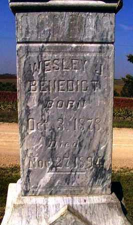 BENEDICT, WESLEY J - Nemaha County, Kansas | WESLEY J BENEDICT - Kansas Gravestone Photos