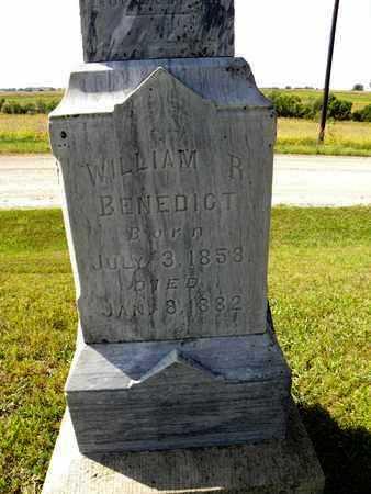 BENEDICT, WILLIAM R - Nemaha County, Kansas | WILLIAM R BENEDICT - Kansas Gravestone Photos