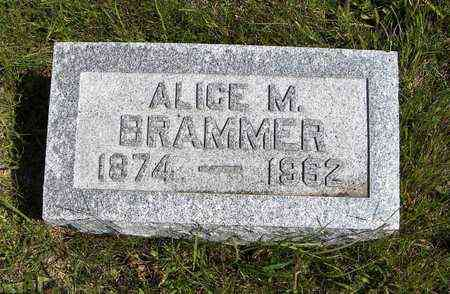 BRAMMER, ALICE M - Nemaha County, Kansas   ALICE M BRAMMER - Kansas Gravestone Photos