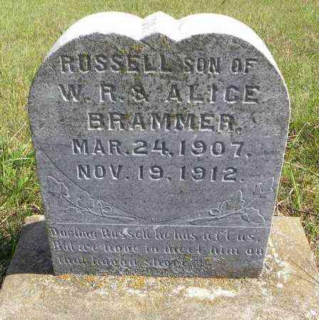 BRAMMER, RUSSELL - Nemaha County, Kansas | RUSSELL BRAMMER - Kansas Gravestone Photos