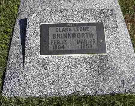 GAGE BRINKWORTH, CLARA LEONE - Nemaha County, Kansas   CLARA LEONE GAGE BRINKWORTH - Kansas Gravestone Photos